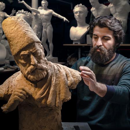 مجسمه سازی با بشیر ناصری